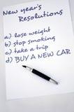 采购新的汽车 免版税库存图片