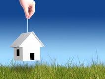 采购的概念房子 库存照片