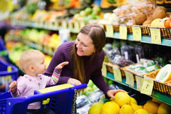 采购的系列结果实超级市场 免版税库存照片