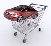 采购的汽车购物车购物 免版税图库摄影