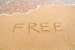释放在海滩 免版税库存照片