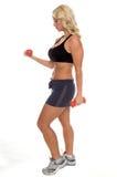 释放重量妇女锻炼 免版税库存照片