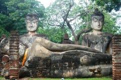 Kamphaeng Phet历史公园Arunyik地区,泰国的菩萨 免版税图库摄影