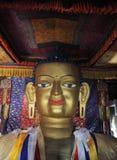 释迦牟尼雕象Shey修道院的在Leh,拉达克附近 免版税图库摄影
