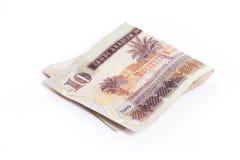 里亚尔-在白色的阿拉伯金钱 免版税库存图片