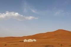 巴巴里人帐篷在撒哈拉大沙漠,摩洛哥 库存照片