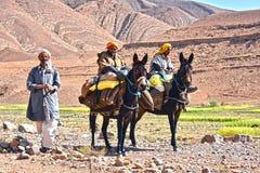 巴巴里人是土著人民到摩洛哥的阿特拉斯山脉 库存照片