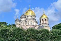 里加正统大教堂 免版税库存图片