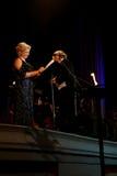 里加节日2013露天歌剧音乐音乐会。 库存照片