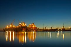 里加造船厂 免版税库存图片
