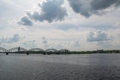 里加铁路桥 免版税库存照片