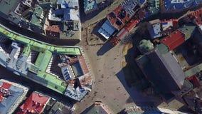 里加,拉脱维亚鸟瞰图老镇 股票视频