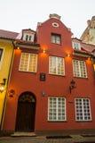 里加,拉脱维亚:Jauniela街道为许多俄国影片被设置在里加奥尔德敦 关于歇洛克・福尔摩斯的影片的房子 库存图片