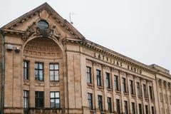 里加,拉脱维亚2017年10月4日:Latvijas收音机或拉脱维亚公共电台公司 库存图片
