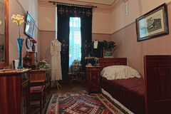 里加,拉脱维亚, 19世纪的客厅 库存照片