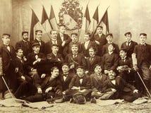 里加,拉脱维亚-大约1907年:里加多科性学院的毕业生 免版税库存图片