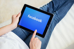 里加,拉脱维亚- 2016年2月17日:Facebook是公司和网上社会网络服务 免版税库存照片