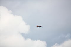 里加,拉脱维亚- 8月20 :从日本S的芳荣Muroya的飞行员 图库摄影