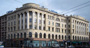 里加, Elizabetes街38,折衷,建筑师欧内斯特波兰人, 1911年 图库摄影