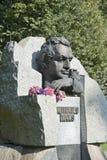 里加 对米哈伊尔・塔尔的一座纪念碑世界冠军和欧元的 库存图片