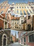 里加(拉脱维亚)图象拼贴画-旅行背景(我的照片) 免版税图库摄影