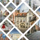 里加(拉脱维亚)图象拼贴画-旅行背景(我的照片) 库存照片