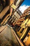 里加4月08日:zirgu (马)街道的看法在08的里加 免版税库存图片