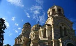 里加 正统大教堂 库存照片