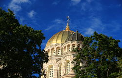 里加 正统大教堂 免版税库存照片