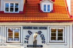 里加 蓝色母牛餐馆 库存图片