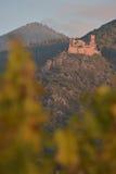 里博维尔,城堡圣徒乌尔里克和Gilsberg,阿尔萨斯 免版税图库摄影