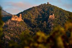 里博维尔,城堡圣徒乌尔里克和Gilsberg,阿尔萨斯 免版税库存照片