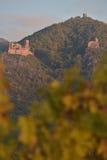 里博维尔,城堡圣徒乌尔里克和Gilsberg,阿尔萨斯 库存照片