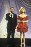 里吉斯・菲尔宾和凯西李主持1994年美国小姐壮丽的场面,大西洋城,新泽西的吉福德 免版税图库摄影