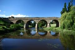 里士满桥梁在塔斯马尼亚岛 库存图片