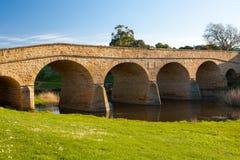 里士满历史的桥梁 免版税库存照片