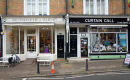 里士满希尔在伦敦购物 免版税图库摄影
