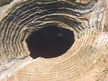 里奥廷托矿,韦尔瓦省省,安大路西亚 免版税库存照片