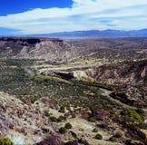 里奥格兰德谷和Sangre de Cristos Range - NM 库存图片