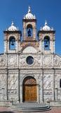 里奥班巴大教堂在厄瓜多尔 免版税库存图片