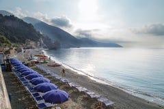 里奥马焦雷海边风景 图库摄影