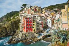 里奥马焦雷,五乡地,利古里亚,意大利风景看法  库存图片