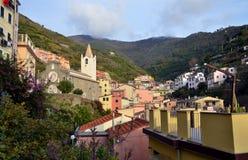 里奥马焦雷,五乡地,利古里亚, Italie 免版税库存图片