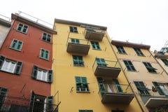 里奥马焦雷,其中一个五乡地村庄,意大利 免版税库存照片