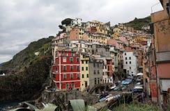 里奥马焦雷,其中一个五乡地村庄,意大利 库存图片