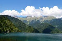 里察湖,阿布哈兹 免版税图库摄影