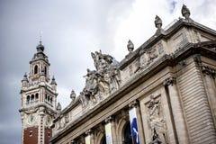 """里尔†""""法国:歌剧大厦在里尔 里尔是城市在法国的北一角,用法语富兰德 库存照片"""