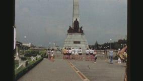 里扎尔纪念碑在马尼拉 影视素材