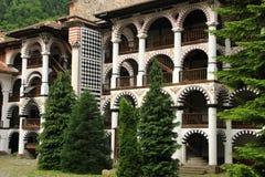 里拉修道院,保加利亚-住宅部分 免版税库存照片