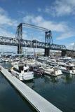 默里摩根桥梁和小游艇船坞 库存照片